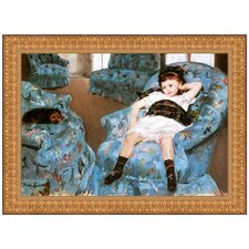 Little Girl in a Blue Armchair, 1878 by Mary Cassatt Framed Painting Print