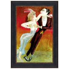 Modern Couple Dancing, 1922 by Otto Dix Framed Painting Print