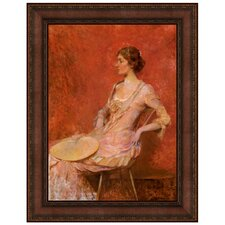 The Palm Leaf Fan, 1906 by Thomas Dewing Framed Painting Print