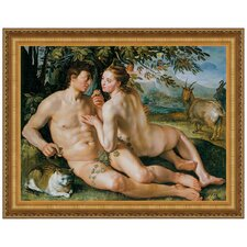 The Fall of Man, 1616 by Hendrik Goltzius Framed Painting Print