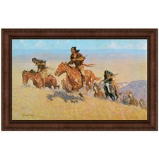 Buffalo Runners Big Horn Basin, 1909 by Frederic S. Remington Framed Painting Print