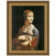 <strong>Design Toscano</strong> Lady with an Ermine, 1490 Replica Painting Canvas Art