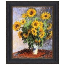 Bouquet of Sunflowers, 1881 by Claude Monet Framed Painting Print