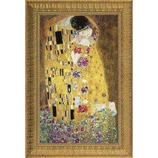 The Kiss, 1908 by Gustav Klimt Framed Painting Print