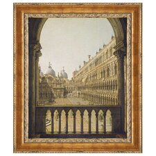 Interior Court of the Doge's Palace, Venice, 1756 by Giovanni Antonio Canal Framed Painting Print