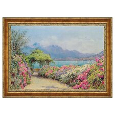 Lake Como from the Villa by Ernest Arthur Rowe Framed Painting Print