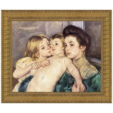 The Caress by Mary Cassatt Framed Painting Print