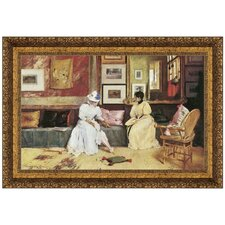 <strong>Design Toscano</strong> A Friendly Call, 1895 Replica Painting Canvas Art
