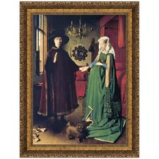 The Arnolfini Marriage, 1434 by Jan Van Eyck Framed Painting Print