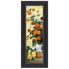 Dahlias, 1883 by Claude Monet Framed Painting Print