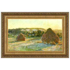 Wheatstacks (End of Summer), 1891 by Claude Monet Framed Painting Print