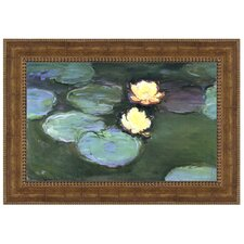Water Lilies (Nympheas), 1898 by Claude Monet Framed Painting Print