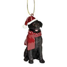 Lab Holiday Dog Ornament Sculpture