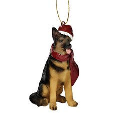 German Shepherd Holiday Dog Ornament Sculpture