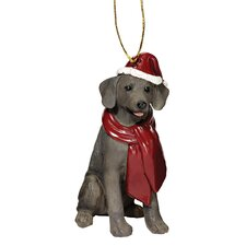Weimaraner Holiday Dog Ornament Sculpture