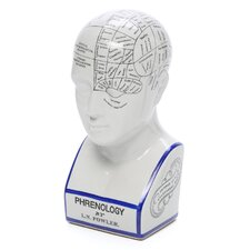 Porcelain Phrenology Head Statue