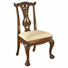 Cupid's Bow Chippendale Fabric Side Chair