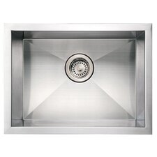 "<strong>Whitehaus Collection</strong> Noah's 20"" x 15"" Commercial Single Bowl Undermount Kitchen Sink"