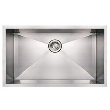 "Noah's 32"" x 19"" Commercial Single Bowl Undermount Kitchen Sink"