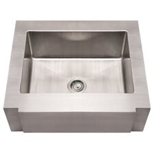 "<strong>Whitehaus Collection</strong> Noah's 30"" x 26.25"" Commercial Single Bowl Farmhouse Undermount Kitchen Sink"