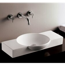 <strong>Whitehaus Collection</strong> Isabella Above Mount Bathroom Sink with Center Drain