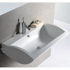 <strong>Whitehaus Collection</strong> Isabella Rectangular Bathroom Sink with Center Drain