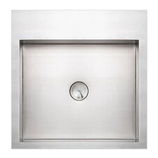 Noah's Square Above Mount Stainless Steel Bathroom Sink