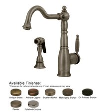 Essexhaus One Handle Single Hole Kitchen Faucet with Side Spray