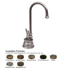 <strong>Whitehaus Collection</strong> Forever Hot Double Handle Single Hole Kitchen Faucet