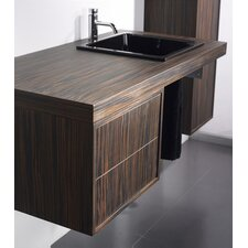 "<strong>Whitehaus Collection</strong> Aeri 17"" Wood Unit  Vanity Top with Double Drawer"
