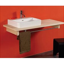 Aeri Ceramic Wood Counter Top with Integral Tower Rail