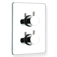 Luxe Thermostatic Valve with Square Plate