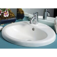 <strong>Whitehaus Collection</strong> China Sly Oval Bathroom Sink with Overflow