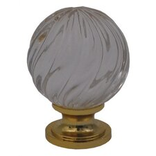 Cabinetry Hardware Decorative Sphere Shaped Crystal Cabinet Knob