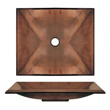 <strong>Whitehaus Collection</strong> Copperhaus Rectangular Bathroom Sink