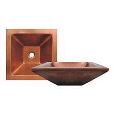 <strong>Whitehaus Collection</strong> Copperhaus Square Bathroom Sink