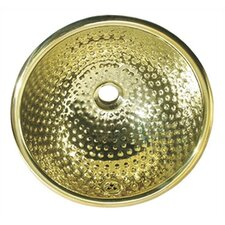 <strong>Whitehaus Collection</strong> Decorative Round Ball Pein Bathroom Sink