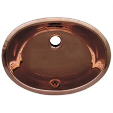 <strong>Whitehaus Collection</strong> Decorative Undermount Smooth Oval Bathroom Sink