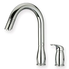 <strong>Whitehaus Collection</strong> Metrohaus One Handle Widespread Kitchen Faucet with Pull-out Spray