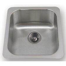 "New England 18.25"" x 16.5"" Undermount Semi Square Kitchen Sink"