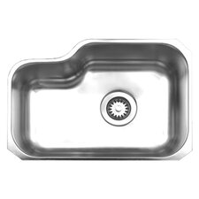 "Noah's 21.88"" x 15.13"" Chefhaus Single Bowl Undermount Kitchen Sink"