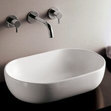 <strong>Whitehaus Collection</strong> Isabella Oval Bathroom Sink with Offset Center Drain