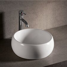 Isabella Round Bathroom Sink with Center Drain