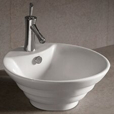 Isabella Round Stepped Bathroom Sink with Overflow and Center Drain