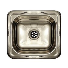 "Entertainment 14.75"" x 12.75"" Prep 5"" Rectangular Drop in Kitchen Sink"