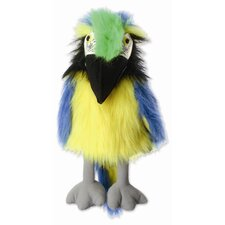 Large Birds Macaw Puppet in Blue and Gold