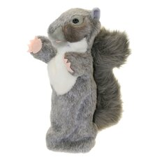 Long-Sleeved Squirrel Glove Puppet in Grey