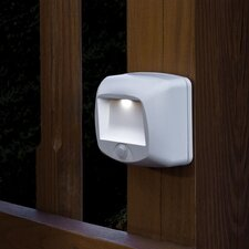 Mr. Beams MB532 Battery Operated Indoor/Outdoor Motion-Sensing LED Step Light, White,, 2-Pack