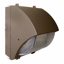 100W HPS Medium Curved Semi Cut-Off Wall Light in Bronze