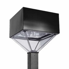 <strong>Deco Lighting</strong> Pyramid 100W Outdoor Post Mount Head in Dark Bronze